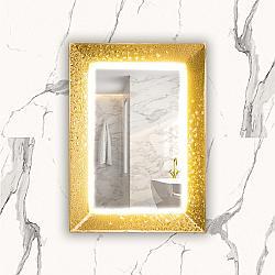 PIACEREBATH MIR-MIRS MIRA 27 5/8 INCH LUXURY MURANO GLASS SINGLE VANITY LED MIRROR