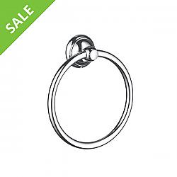 SALE! HANSGROHE 06095000 C ACCESSORIES TOWEL RING IN CHROME