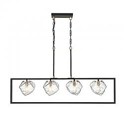 OVE DECORS 15LCH-METE47-PBMHO METEOR 4-LIGHT CHANDELIER IN BLACK
