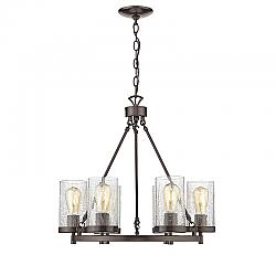 OVE DECORS 15LCH-SOUT22-PBOKY SOUTHAMPTON 6-LIGHT CHANDELIER IN OIL RUBBED BRONZE
