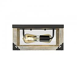 OVE DECORS 15LFM-WINC12-PWDKY WINCHESTER 2-LIGHT CEILING FLUSH MOUNT IN DRIFTWOOD FINISH