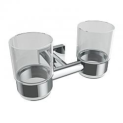 ICO V6256 CRATER 7 1/4 INCH WALL MOUNT DOUBLE GLASS TUMBLER