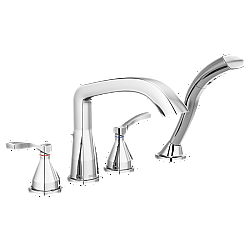 DELTA T4776 STRYKE FOUR HOLE ROMAN TUB TRIM WITH LEVER HANDLES