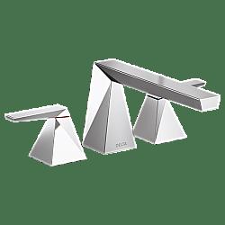 DELTA T2743 TRILLIAN 5 5/8 INCH DOUBLE LEVER HANDLE DECK MOUNT ROMAN TUB FAUCET