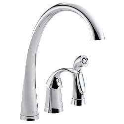 DELTA 4380-DST PILAR SINGLE HANDLE KITCHEN FAUCET WITH SPRAY