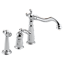 DELTA 155-DST VICTORIAN SINGLE HANDLE FAUCET WITH SPRAY