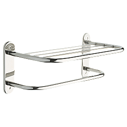 DELTA 43618 20 1/8 INCH TOWEL RACK SHELF WITH EXPOSED MOUNTING - CHROME