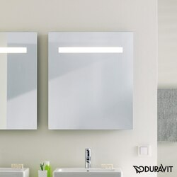 DURAVIT KT733100000 KETHO 31-1/2 X 29-1/2 INCH MIRROR WITH LIGHTING