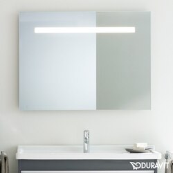 DURAVIT KT733200000 KETHO 39-3/8 X 29-1/2 INCH MIRROR WITH LIGHTING