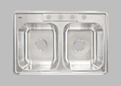 LESS CARE LTD64 33 INCH KITCHEN AND BAR TOP MOUNT SINK