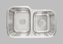 LESS CARE L202R 31 INCH UNDERMOUNT DOUBLE BOWL KITCHEN SINK