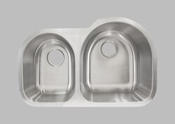 LESS CARE L203L 30 INCH UNDERMOUNT DOUBLE BOWL KITCHEN SINK