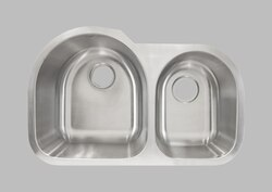 LESS CARE L203R 30 INCH UNDERMOUNT DOUBLE BOWL KITCHEN SINK