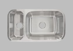 LESS CARE L204L 32 INCH UNDERMOUNT DOUBLE BOWL KITCHEN SINK