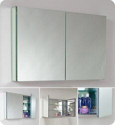 FRESCA FMC8010 LARGE 39.5 INCH BATHROOM MEDICINE CABINET WITH MIRRORS