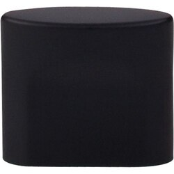 TOP KNOBS TK73BLK SANCTUARY OVAL SLOT KNOB SMALL 3/4 INCH CENTER TO CENTER FLAT BLACK