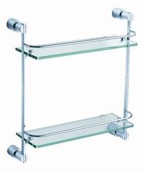FRESCA FAC0146 MAGNIFICO 2 TIER GLASS SHELF - CHROME
