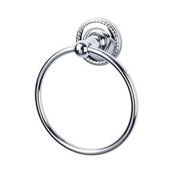 TOP KNOBS ED5F EDWARDIAN BATH RING - ROPE BACKPLATE