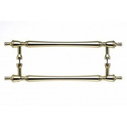 TOP KNOBS M818-18 PAIR PB APPLIANCE SOMERSET FINIAL BACK TO BACK DOOR PULL 18 INCH CENTER TO CENTER POLISHED BRASS