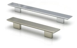 TOPEX 8-104312809635 RECTANGULAR PULL 3 3/4 INCHES (96MM) AND 5 INCHES (128MM) SATIN NICKEL