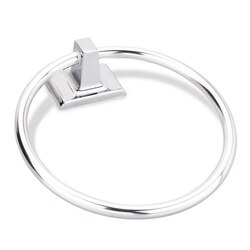 HARDWARE RESOURCES BHE1-06PC ELEMENTS BRIDGEPORT COLLECTION TRADITIONAL TOWEL RING