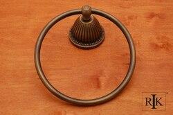 RK INTERNATIONAL BEAE 5 BEADED BELL BASE TOWEL RING