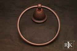 RK INTERNATIONAL BEDC 5 BEADED BELL BASE TOWEL RING