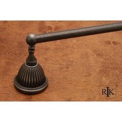 RK INTERNATIONAL BEDN 3 30 INCH BEADED BELL BASE SINGLE TOWEL BAR