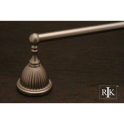 RK INTERNATIONAL BEPW 3 30 INCH BEADED BELL BASE SINGLE TOWEL BAR