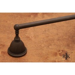 RK INTERNATIONAL BERB 3 30 INCH BEADED BELL BASE SINGLE TOWEL BAR