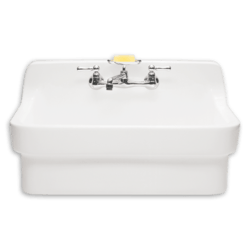 AMERICAN STANDARD 9062.008.020 COUNTRY BASE-MOUNTED VITREOUS CHINA 30 INCH 2-HOLE SINGLE BOWL KITCHEN SINK IN WHITE