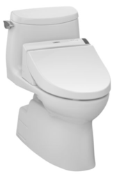 TOTO CST604CEFGT20#01 ULTRAMAX II CONNECT+ ONE-PIECE TOILET, 1.28 GPF WITH SANAGLOSS LESS WASHLET