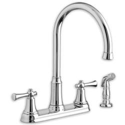AMERICAN STANDARD 4285.551.F15.002 PORTSMOUTH 2-HANDLE HIGH-ARC KITCHEN FAUCET WITH SIDE SPRAY 1.5 GPM/5.7 L/MIN. MAXIMUM FLOW RATE
