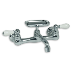 AMERICAN STANDARD 7295.252.002 HERITAGE 2-HANDLE WALL-MOUNT KITCHEN FAUCET WITH SOAP DISH