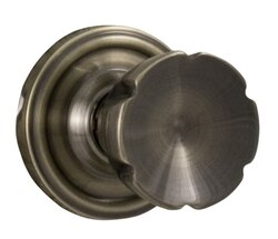 WESLOCK 00605EA--0020 TRADITIONALE SINGLE DUMMY DOOR ELEGANTI KNOB WITH ROUND ROSETTE ANTIQUE BRASS