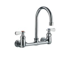 WHITEHAUS WHFS9814-P4-C HEAVY DUTY 7-3/4 INCH WALL MOUNT UTILITY FAUCET