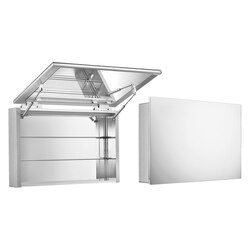 WHITEHAUS WHHIM-2 21-3/4 INCH SINGLE TWO SIDED VERTICALLY OPENING MIRRORED DOOR MEDICINE CABINET