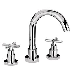 WHITEHAUS WHLX79214-BN LUXE 6 INCH WIDESPREAD LAVATORY FAUCET IN BRUSHED NICKEL
