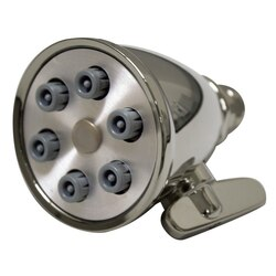 WHITEHAUS WH138 SHOWERHAUS SMALL ROUND SHOWERHEAD WITH 6 SPRAY JETS - SOLID BRASS CONSTRUCTION