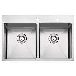 STUFURHOME NW-3322DO NATIONALWARE 16-GAUGE STAINLESS STEEL 33-INCH SINGLE BASIN OVERMOUNT KITCHEN SINK