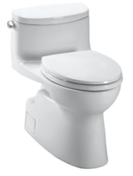 TOTO CST644CEFGT20#01 CAROLINA II ONE PIECE ELONGATED 1.28 GPF TOILET WITH TORNADO FLUSH SYSTEM LESS SEAT