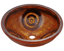 POLARIS P016 PAINTED GLASS VESSEL SINK 16-1/2 INCH HAND PAINTED