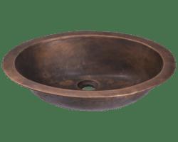POLARIS P059 SINGLE BOWL BRONZE BATHROOM SINK 19 INCH ANTIQUE BRONZE