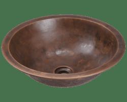 POLARIS P159 SINGLE BOWL BRONZE BATHROOM SINK 17 INCH ANTIQUE BRONZE