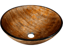 POLARIS P236 GLASS VESSEL BATHROOM SINK 16-1/2 INCH FOIL UNDERTONE
