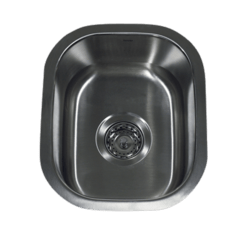 NANTUCKET SINKS NS1513 - 15 INCH RECTANGLE UNDERMOUNT STAINLESS STEEL BAR/PREP SINK-18 GAUGE
