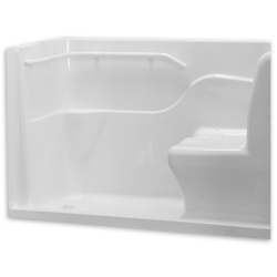 AMERICAN STANDARD 3060.SH 60 X 30 INCH HIGH GLOSS ACRYLIC SEATED SAFETY SHOWER