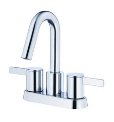 DANZE D301130 AMALFI TWO-HANDLE CENTERSET LAVATORY FAUCET WITH 50/50 TOUCH DOWN DRAIN, 1.2 GPM