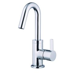 DANZE D222530 AMALFI ONE-HANDLE LAVATORY FAUCET SINGLE HOLE MOUNT  WITH TOUCH DOWN DRAIN AND DECK PLATE , 1.2GPM