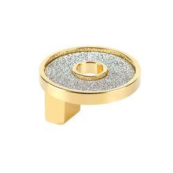 TOPEX P2096.33ORZSIL SMALL ROUND KNOB WITH HOLE SPARKLING SWAROVSKI GOLD